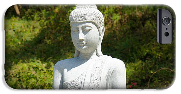 Fortune iPhone Cases - Buddha iPhone Case by Aged Pixel