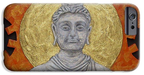 Buddhism Reliefs iPhone Cases - Buddha iPhone Case by Anna Maria Guarnieri