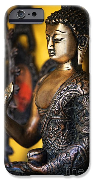 Medicine iPhone Cases - Buddha Blessings iPhone Case by Tim Gainey