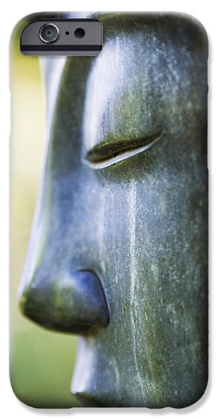 Buddhism iPhone Cases - Buddha Face iPhone Case by Tim Gainey