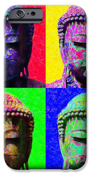 Buddha Four 20130130 iPhone Case by Wingsdomain Art and Photography