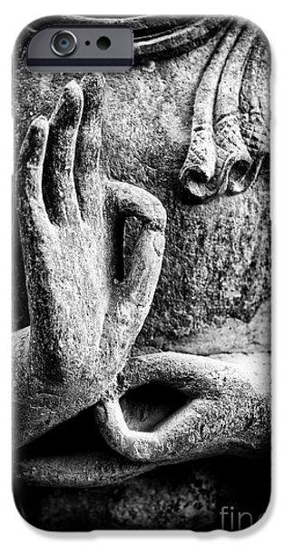 Buddha Hand Mudra iPhone Case by Tim Gainey
