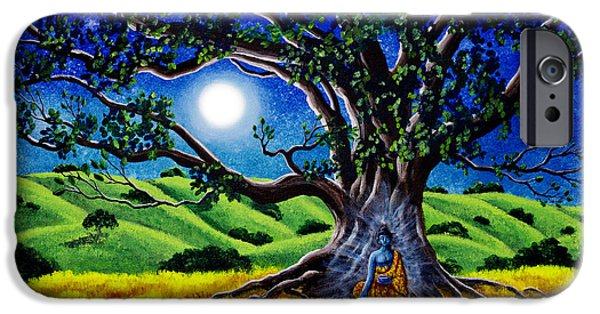 Tibetan Buddhism iPhone Cases - Buddha Healing the Earth iPhone Case by Laura Iverson