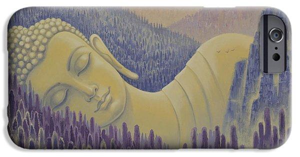 Tibetan Buddhism iPhone Cases - Buddha is everything iPhone Case by Yuliya Glavnaya