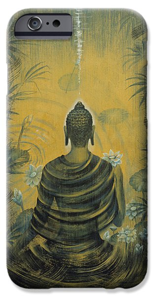 Tibetan Buddhism iPhone Cases - Buddha. Presence iPhone Case by Vrindavan Das