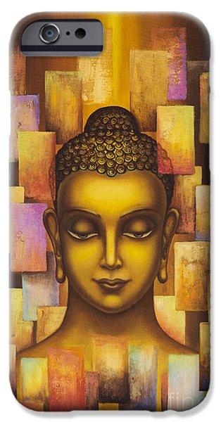 Tibetan Buddhism iPhone Cases - Buddha. Rainbow body iPhone Case by Yuliya Glavnaya
