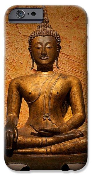 Tibetan Buddhism iPhone Cases - Buddha iPhone Case by Ram Vasudev