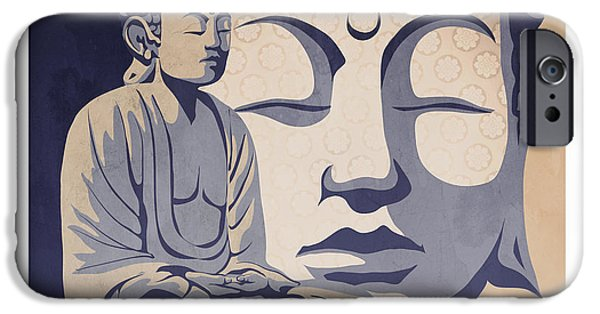 Buddhist Paintings iPhone Cases - Buddha iPhone Case by Sassan Filsoof