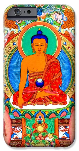 Tibetan Buddhism iPhone Cases - Buddha Shakyamuni 1 iPhone Case by Lanjee Chee