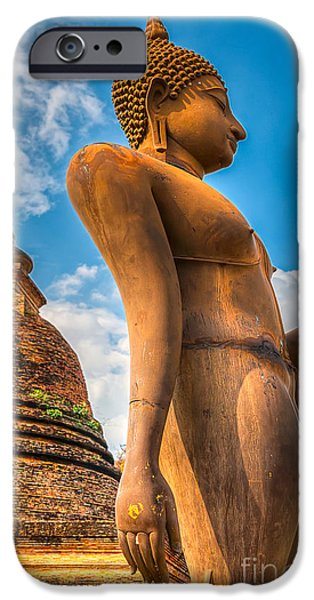 Buddhist iPhone Cases - Buddha Statue iPhone Case by Adrian Evans