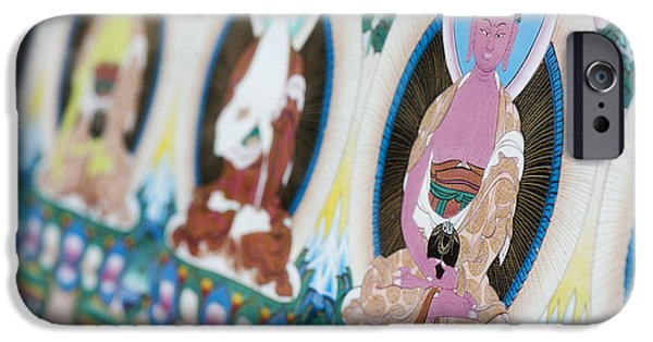 Buddhism iPhone Cases - Buddha Thangka iPhone Case by Tim Gainey