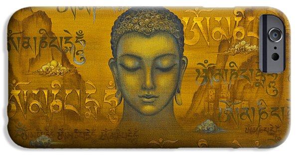 Tibetan Buddhism iPhone Cases - Buddha. The message iPhone Case by Yuliya Glavnaya