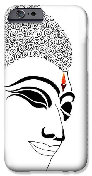 Buddhist iPhone Cases - Buddha XI iPhone Case by Kruti Shah