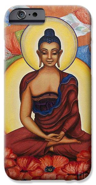 Tibetan Buddhism iPhone Cases - Buddha iPhone Case by Yuliya Glavnaya