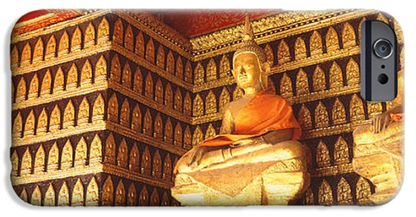 Buddhist iPhone Cases - Buddhas Wat Xien Thong Luang Prabang iPhone Case by Panoramic Images