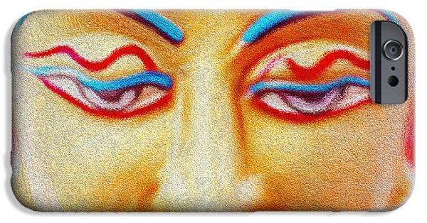 Tibetan Buddhism iPhone Cases - Buddhic Beauty iPhone Case by Tarik Eltawil