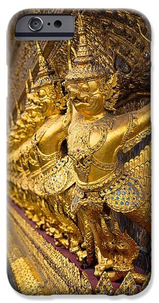 Buddhist iPhone Cases - Buddhist Figurines iPhone Case by Inge Johnsson