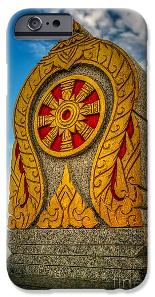 Buddhist iPhone Cases - Buddhist Icon iPhone Case by Adrian Evans