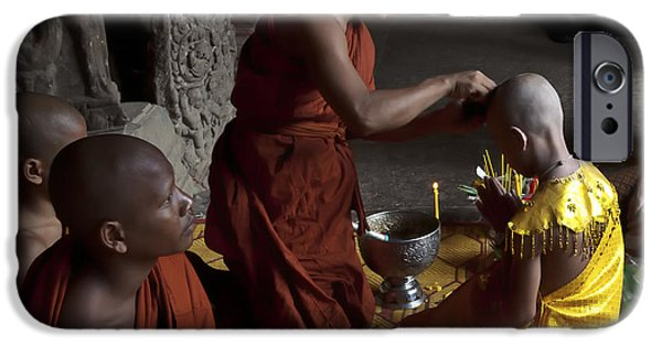 Buddhist iPhone Cases - Buddhist Initiation Photograph By Jo Ann Tomaselli iPhone Case by Jo Ann Tomaselli