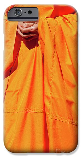 Buddhist Monk 02 iPhone Case by Rick Piper Photography