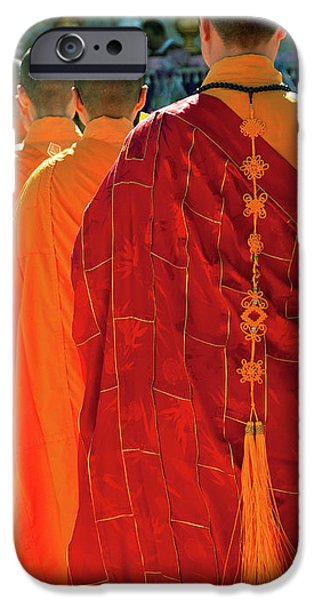 Buddhist Monks iPhone Case by Rick Piper Photography