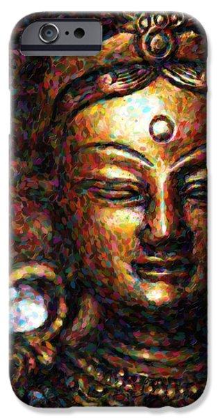 Buddhist iPhone Cases - Buddhist Tara Deity iPhone Case by Tim Gainey