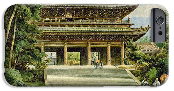 Buddhism iPhone Cases - Buddhist Temple At Kyoto, Japan, From The History Of Mankind, Vol.iii, By Prof. Friedrich Ratzel iPhone Case by Ernst Heyn