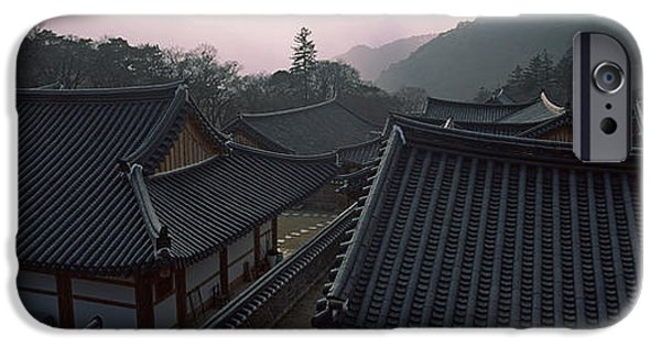 Buddhist iPhone Cases - Buddhist Temple With Mountain Range iPhone Case by Panoramic Images