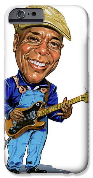 Chicago Paintings iPhone Cases - Buddy Guy iPhone Case by Art