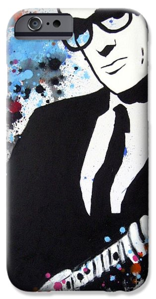 Modernism Mixed Media iPhone Cases - Buddy Holly iPhone Case by Venus