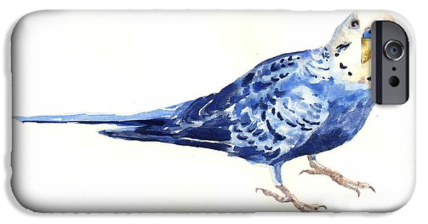 Parakeet iPhone Cases - Budgie Bow iPhone Case by Alison Fennell