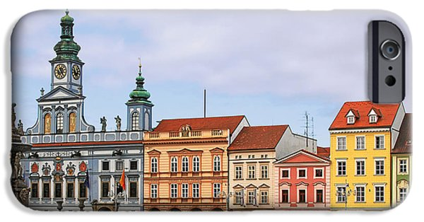 Budejovice iPhone Cases - Budweis - Namesti Premysla Otakara II iPhone Case by Christine Till