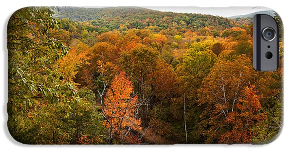 Beautiful Autumn Day iPhone Cases - Bufallo River in the Autumn iPhone Case by Brandon Alms