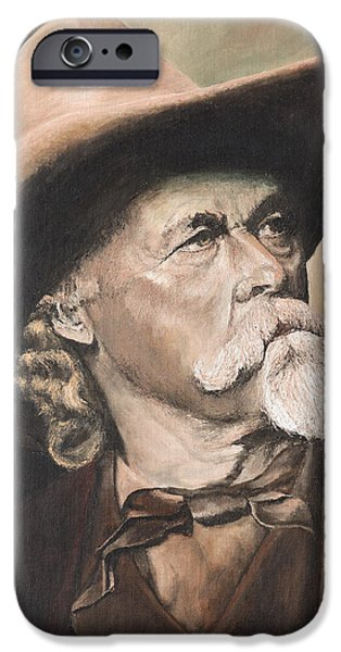 Politician iPhone Cases - Buffalo Bill Cody iPhone Case by Mary Ellen Anderson