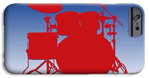 Drum Sets iPhone Cases - Buffalo Bills Drum Set iPhone Case by Joe Hamilton