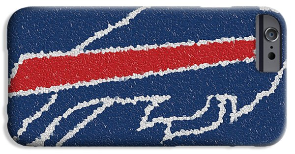 Kemp iPhone Cases - Buffalo Bills Mosaic iPhone Case by Jack Zulli