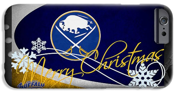 Santa iPhone Cases - Buffalo Sabres Christmas iPhone Case by Joe Hamilton