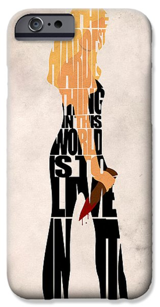 Nerd iPhone Cases - Buffy the Vampire Slayer iPhone Case by Ayse Deniz