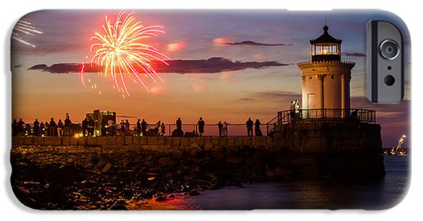 Fourth Of July iPhone Cases - Bug Light Fireworks iPhone Case by Benjamin Williamson