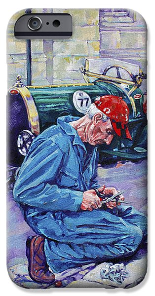 Mechanics Paintings iPhone Cases - Bugatti-Angouleme France iPhone Case by Derrick Higgins