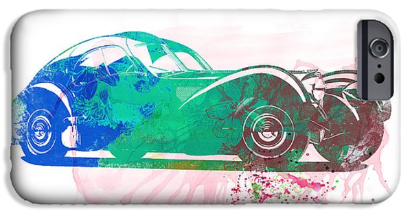 Concept iPhone Cases - Bugatti Atlantic Watercolor 1 iPhone Case by Naxart Studio