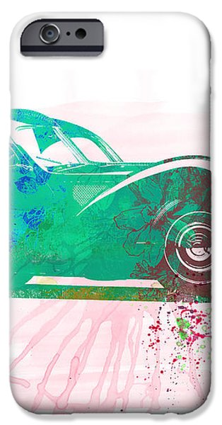 Bugatti Atlantic Watercolor 1 iPhone Case by Naxart Studio