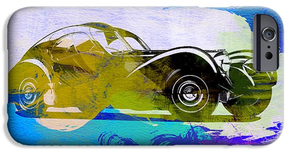 Concept iPhone Cases - Bugatti Atlantic Watercolor 2 iPhone Case by Naxart Studio