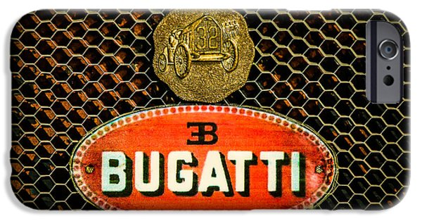 Bugatti Vintage Car iPhone Cases - Bugatti Emblem -0903c iPhone Case by Jill Reger