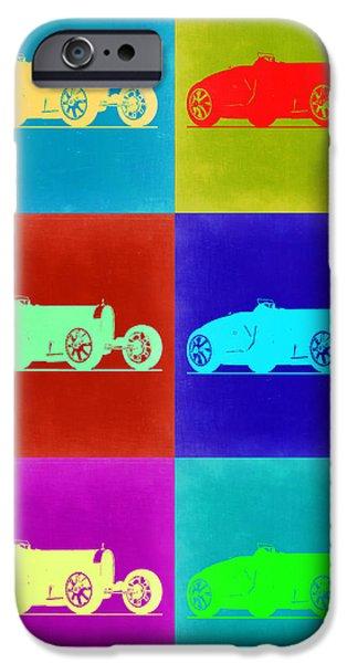 Bugatti Type 35 R Pop Art 2 iPhone Case by Naxart Studio