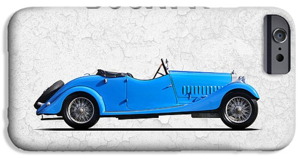 Bugatti Vintage Car iPhone Cases - Bugatti Type 44 1927 iPhone Case by Mark Rogan