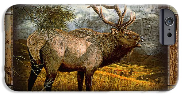 Miller iPhone Cases - Bugling Elk iPhone Case by JQ Licensing