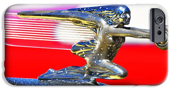 Shower Head iPhone Cases - Red and Silver Buick Hood Car Ornament iPhone Case by ArtyZen Studios - ArtyZen Home