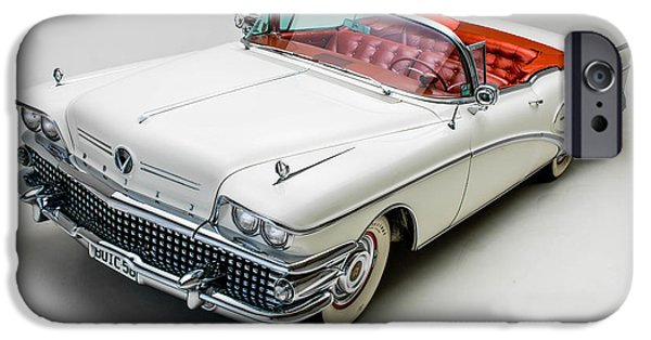 Cars iPhone Cases - Buick Limited Convertible 1958 iPhone Case by Gianfranco Weiss
