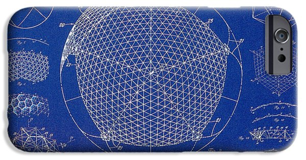 Technology iPhone Cases - Building Construction Geodesic Dome 1951 iPhone Case by Science Source